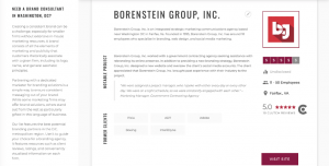 Borenstein Group Named Top B2B & B2G Branding Agency in Washington DC by Clutch Research
